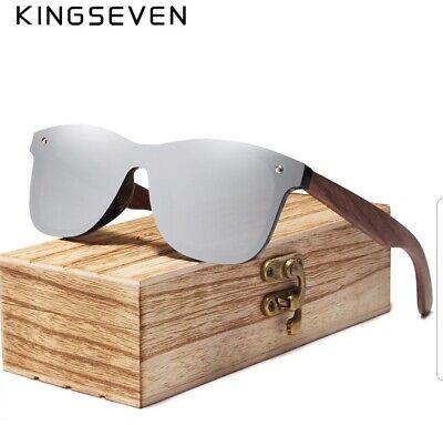 KINGSEVEN 2020 Unisex Polarisierte Sonnenbrille Nussbaum Verspiegelt (King Seven Sunglasses)