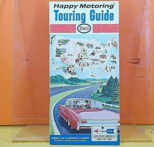 ENCO Gas Station HIGHWAY ROAD MAP / Touring Guide 1966