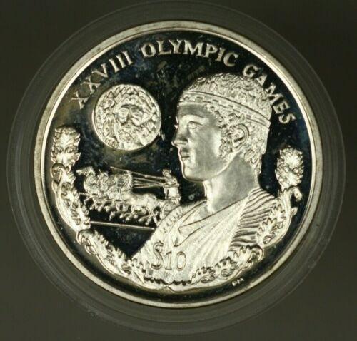British Virgin Islands $10  2003 Olympic Games Proof  A1352