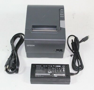 Epson Network Thermal Receipt Printer Tm-t88v Pos W Ethernet Ac Adapter