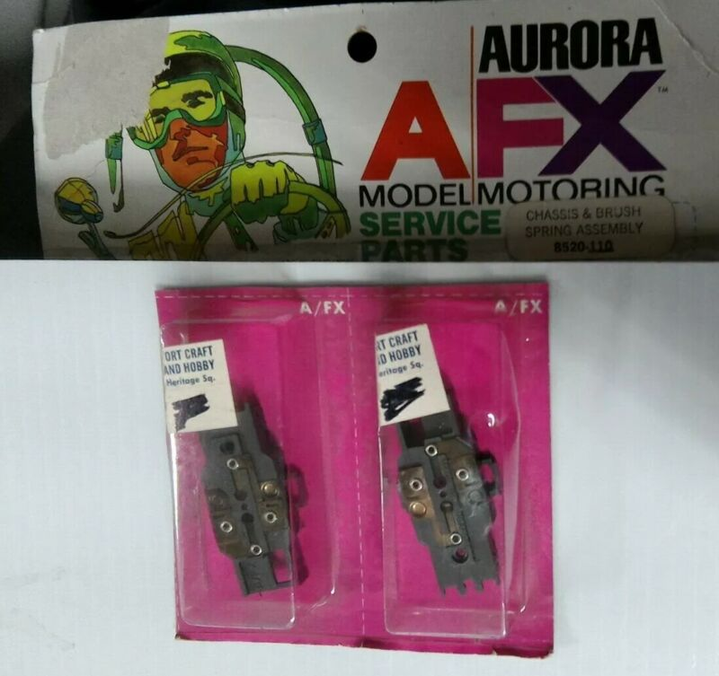 AURORA AFX 8520-110 CHASSIS & BRUSH SPRING ASSEMBLY