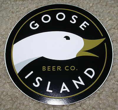 GOOSE ISLAND Chicago LOGO STICKER decal craft beer brewery bourbon county