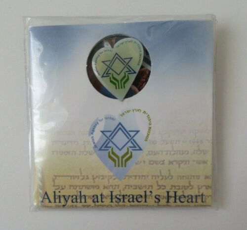 Jewish Agency For Israel Aliyah Offical Pin With Packaging Judaica