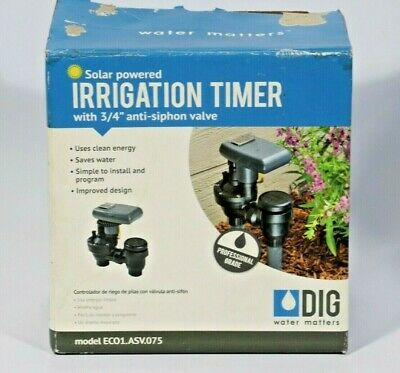 DIG Solar Powered Irrigation Timer with Anti-Siphon Valve (ECO 1 ASV.075)