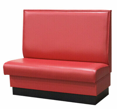 Red Restaurant Booth Single Double 48long X 42 High Upholstered Plain Back