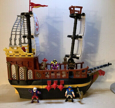 Fisher Price Imaginext Pirate / Buccaneer Ship  2002 COMPLETE