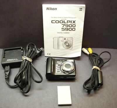 NIKON COOLPIX 7900 w/ BATTERY, CHARGER MH-61,  A/V CORD, MANUAL