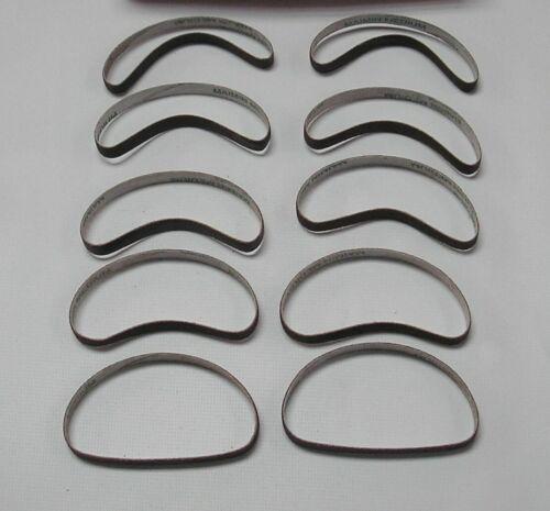 "10 Abrasive Belts ""Medium Grit"" Sharpening Bands for Eastman Cutting Machine"