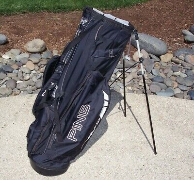 Ping Mit-E-Lite Golf Bag Dual Shoulder Strap Excellent Black Very Lite Weight