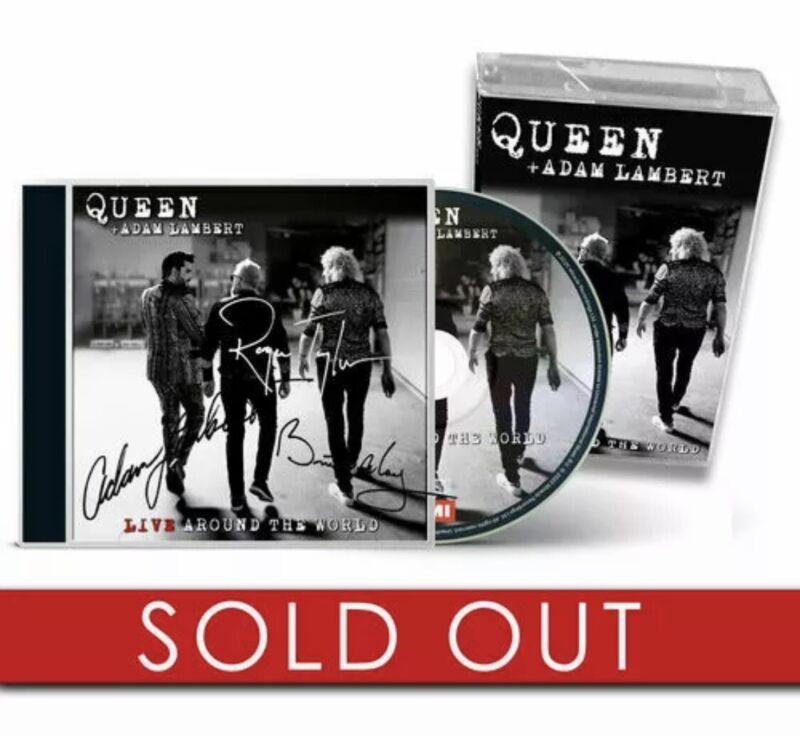 QUEEN & ADAM LAMBERT - Live Around The World(UK 2020 SIGNED CD ALBUM & CASSETTE)