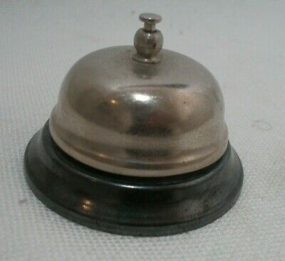 Retail Store Customer Service Bell Silver Desk Counter Bell Black Call Bell Used