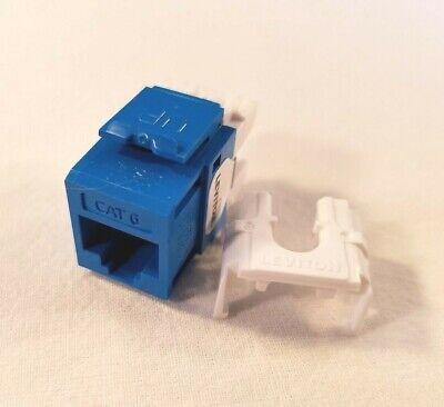 61110-RL6 Leviton eXtreme Cat 6 QuickPort Jack, Blue