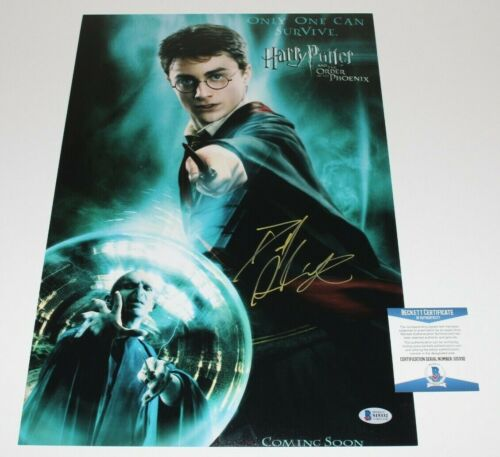 DANIEL RADCLIFFE SIGNED HARRY POTTER THE ORDER OF THE PHOENIX POSTER BECKETT COA