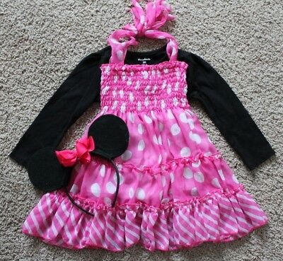 Toddler Girl Minnie Mouse Halloween Costume Birthday Outfit 2T Dress