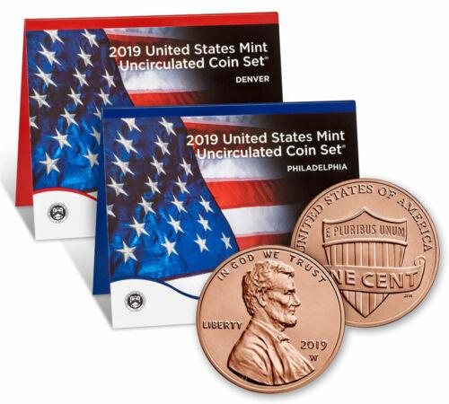 2019 U.s. Mint Set + 2019w Uncirc Lincoln Cent Gem Unc Presale Sku58137