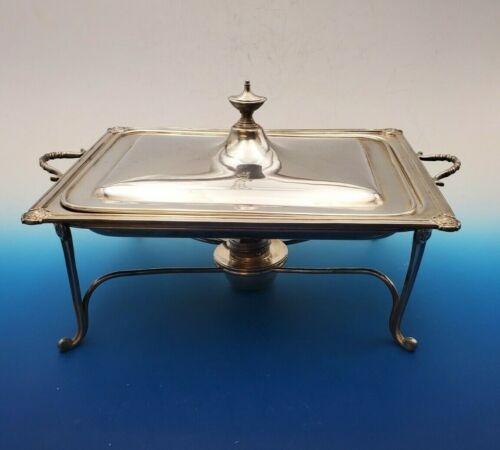 Antique English Silverplate Chafing Dish Warming Tray - Wm Hutton & Sons   ***