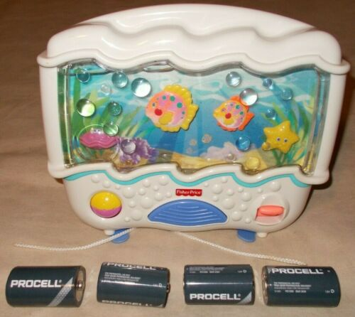 Fisher Price Ocean Wonders Aquarium Crib Toy w/ new Batteries + Full Water Level
