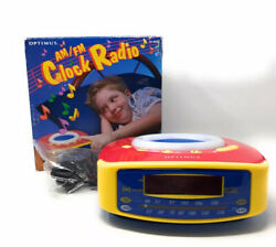 New Optimus AM FM Radio Alarm Clock Kids Retro NOS
