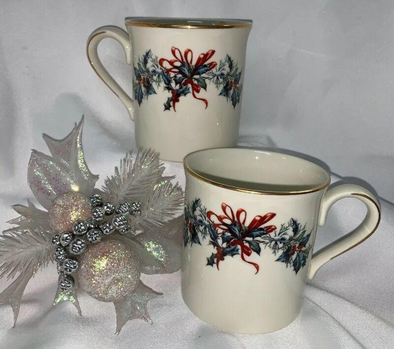 Lenox Winter Greetings Set Of 2 Mugs **NEW**