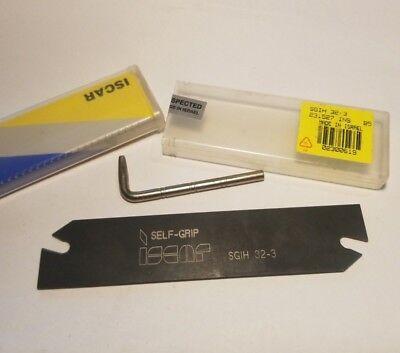 Iscar 2300619 Sgih 32-3 Self-grip Parting Grooving Blade