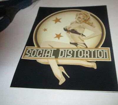 SOCIAL DISTORTION STICKER NEW 2009 VINTAGE OOP RARE COLLECTIBLE