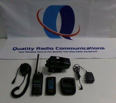 Kenwood Tk-2312-1 136-174 Mhz Vhf Two Way Radio W Mic Holster Charger Tk-2312