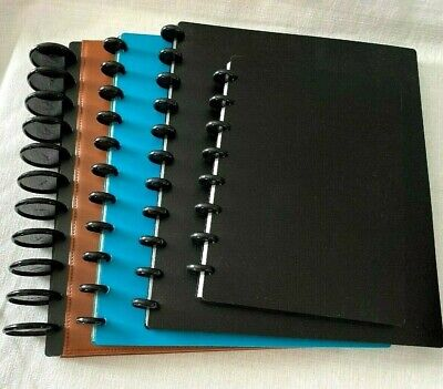 Lot 4 Tul Note-taking System Discbound Tab Divider Poly Leather Letter Notebook