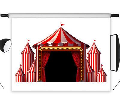 Circus Stage Design Theatrical Celebrate 7X5FT Vinyl Studio Backdrop - Backdrop Design