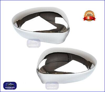 CALOTTE CROMATE FIAT 500 2007> Specchietti cromati coppia per calotta kit tuning
