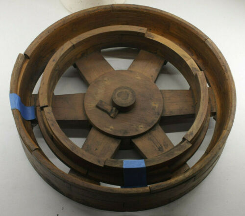 "Lamson Industrial Foundry Wood ~12"" Machine Belt Spoked Wheel Mold Pattern M105"