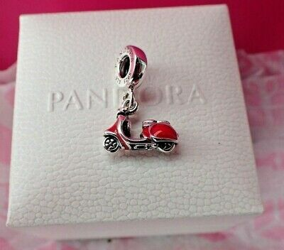 Authentic Pandora Charm Scooter 791140EN42 Motorcycle ()