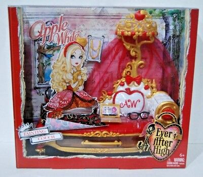 🍎 EVER AFTER HIGH APPLE WHITE DOLL FAINTING COUCH BED PLAYSET FURNITURE NEW 🍎 segunda mano  Embacar hacia Argentina