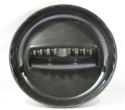 "Vintage GES-LINE #341 Melamine Mid Century Retro Ashtray BLACK 7"""