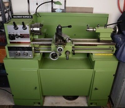 Emco Maximat Super 11 Metal Lathe Well Tooled