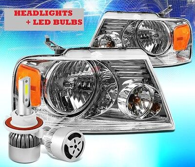 TIFFIN ZEPHYR 2008-2011 HEADLIGHTS HEAD LAMPS + LED BULBS - RV SET