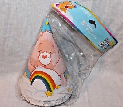 Care Bear Party Supplies (NEW  IN PACKAGE CARE BEARS 8 PARTY HATS  CLOUDS PARTY SUPPLIES  )
