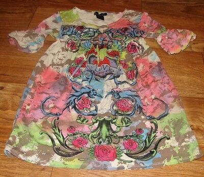 (FLOWERS BY ZOE LITTLE GIRLS SIZE 5 BEAUTIFUL TIE-DYE TUNIC/TOP)