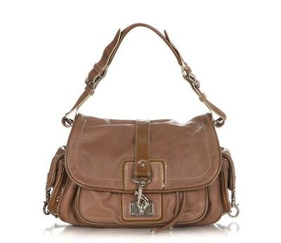 MARC JACOBS Handbag Medium Brown Leather Shoulder Flap Bag Handbag Purse