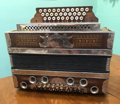 Original StachlGraz 3Row Diatonic 25Button Box Accordion Harmonika EAD-GSF-BDsAs