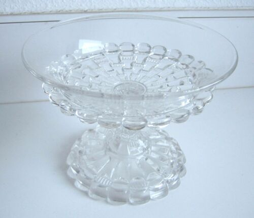 Antique Crystal round decorative compote