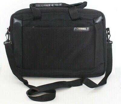 Authentic Samsonite Laptop Shoulder Brief Case Bag w/ tablet pocket Black 16x12