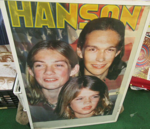 HANSON POSTER SUPER RARE NEW VINTAGE COLLECTABLE METAL LATE 90