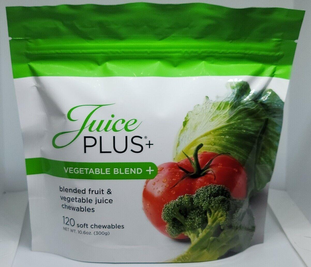 Juice Plus 120 Soft Chewables Gummies Vegetable Blend New Best By 04/2021