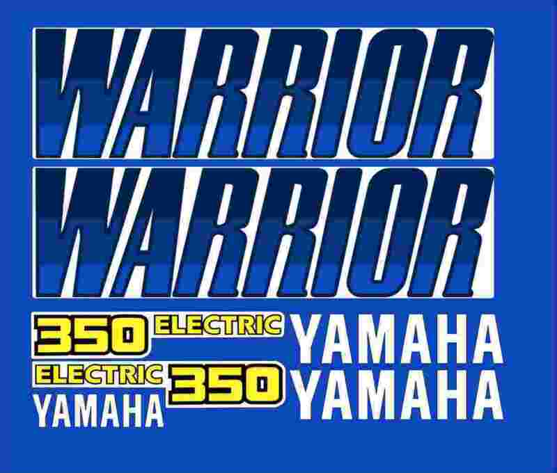 Warrior yamaha Decals YELLOW Airbrush Style Stickers Graphics 14pc ATV QUAD Motors