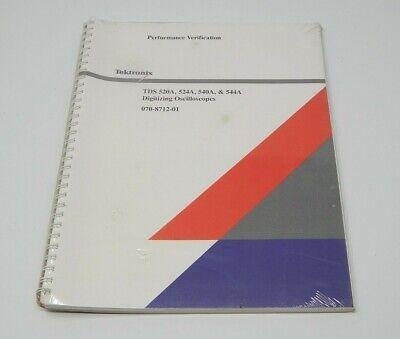Tektronix Tds 520a 524a Digitizing Oscilloscopes Performance Verification R19812
