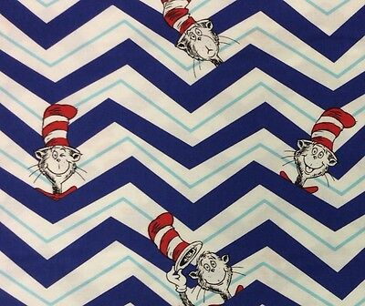 RK113 Dr. Seuss Cat In The Hat Childrens Book Story Cute Quilting Cotton Fabric
