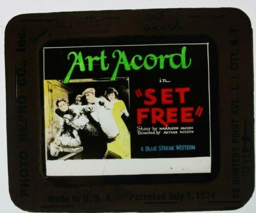 Set Free 1927 glass slide - Art Acord - free shipping