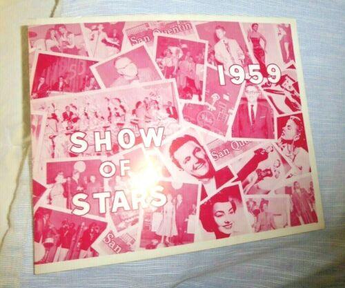 VINTAGE PROGRAM SAN QUENTIN PRISON CAL SHOW OF STARS  BIMBOS CLUB 365  1959