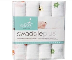 Aden and Anais Swaddle Blankets - pack of 4 new o