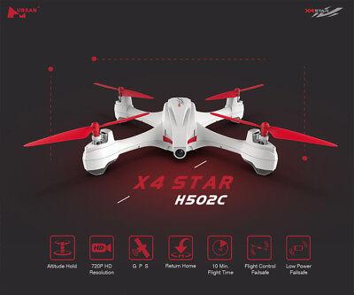 Hubsan X4 H502C Drone 2.4G 4CH RC Quadcopter 720P HD Camera Auto Return GPS RTF
